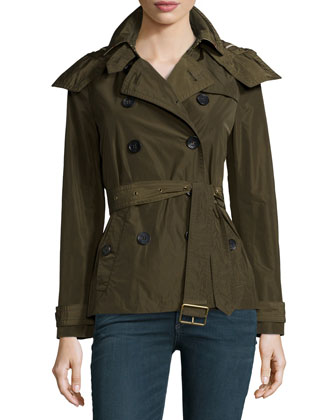 Balmoral Cropped Double-Breasted Trench Coat