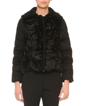Shearling-Trimmed Cashmere Puffer Jacket