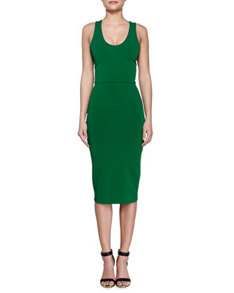 V-Back Ponte Sheath Dress