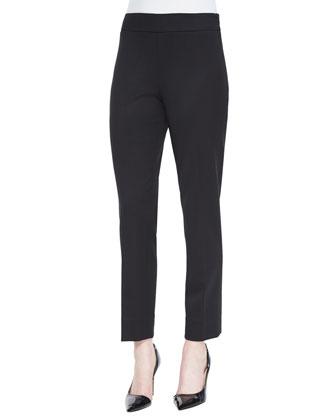 Stretch-Wool Twill Slim Pants