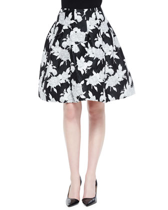 Floral Jacquard Full Skirt