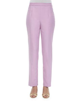 Double-Face Wool Coat, Double-Face Flat Front Pants & Alpaca Long-Sleeve ...