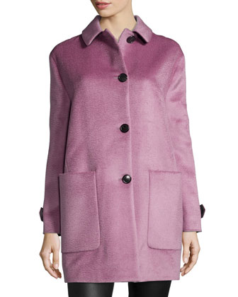 Single-Breasted Llama Hair Coat, Seamless Cashmere Sweater & Side-Paneled ...