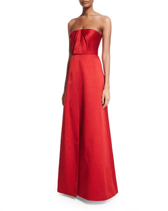 Strapless Draped Ball Gown