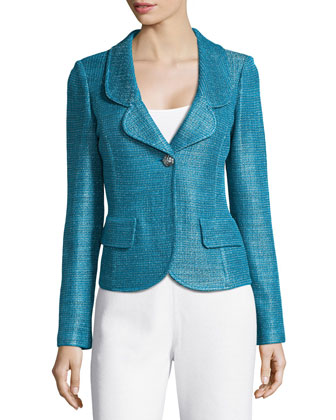 Multi-Tonal Sateen Knit Jacket