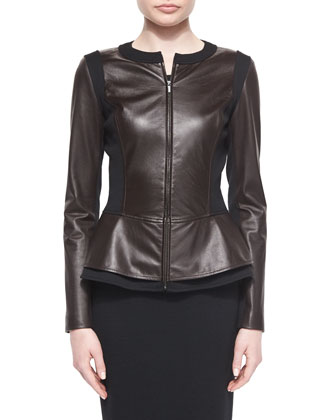 Luxe Nappa Leather Jewel Nck
