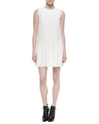 Front-Pleated Mini Dress