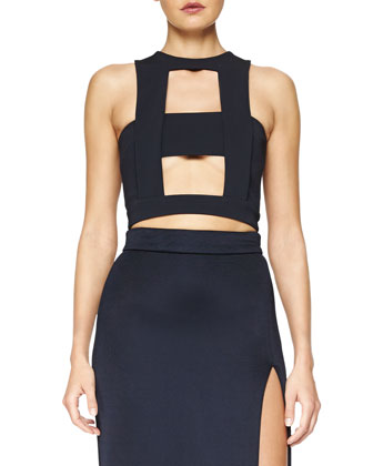 Cutout-Front Crop Top