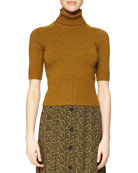 Half-Sleeve Cashmere Sweater