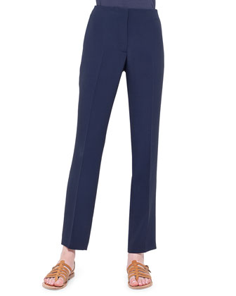 Frank Crepe Slim Ankle Pants