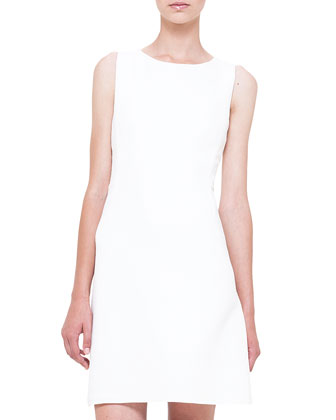 Sleeveless Crepe A-Line Dress