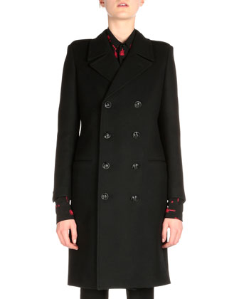 Double-Breasted Militaire Coat