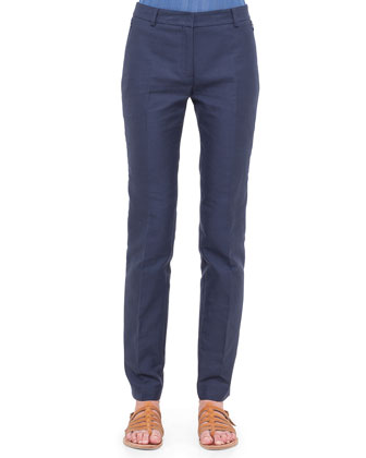 Melvin Double-Faced Twill Ankle Pants, Azurite