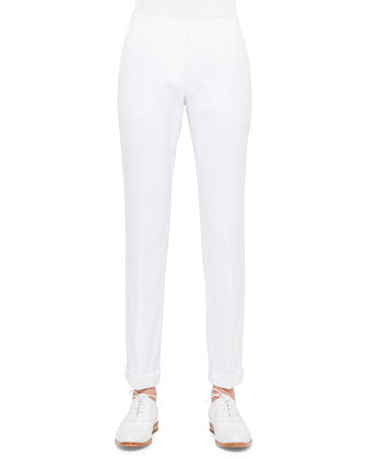 Frank Seersucker Slim-Fit Pants, Calcite