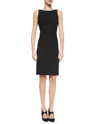 Sleeveless Ribbed Sheath Dress