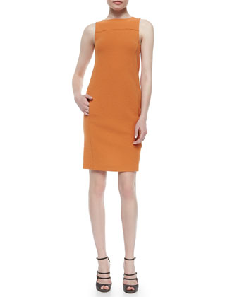 Sleeveless On-Seam-Pocket Dress, Zucca