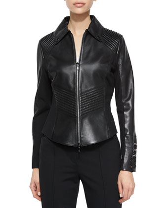Dondi Inset Ring Detail Jacket, Black