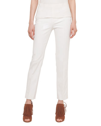 Franca Cropped Knit Pants, Off White