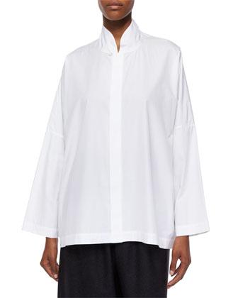 Sloped-Shoulder Imperial Shirt, White