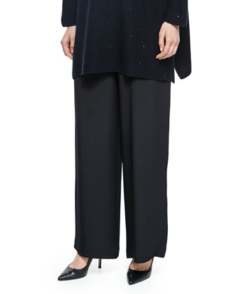 A-Line Silk Shell, Black