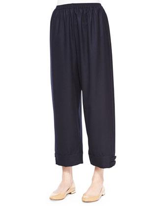 Short-Sleeve Chenille Cardigan, Double-Collar Cotton Poplin Blouse, ...