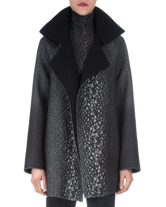 Way-Print Raglan-Sleeve Coat, Cashmere-Blend Way-Print Top & Double-Faced ...