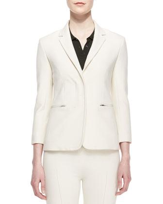 Shrunken Scuba Schoolboy Jacket, Short-Sleeve Button-Front Polo & Skinny ...