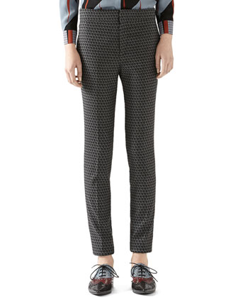 Kaleidoscope Wool 1960s Skinny Pant