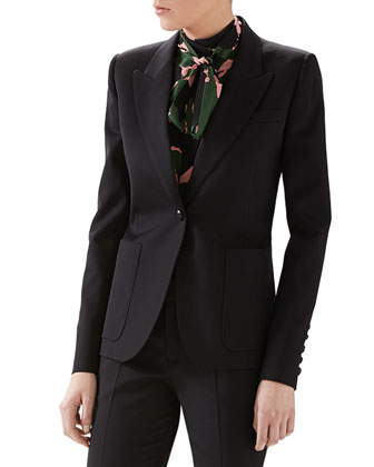 Wool Single-Breasted Blazer
