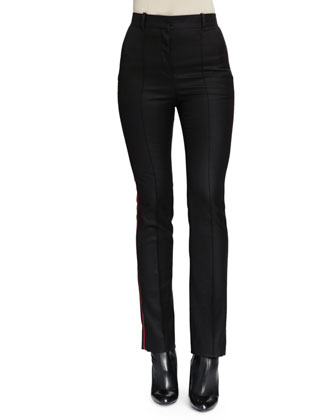 Piped Side-Striped Slim Pants