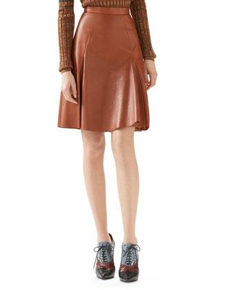Leather Panel Skirt
