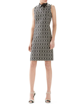 Wool Octagonal Jacquard Dress