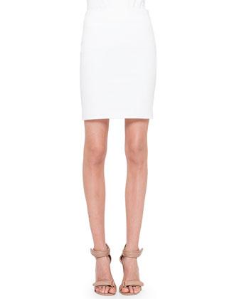 Mid-Length Woven Pencil Skirt