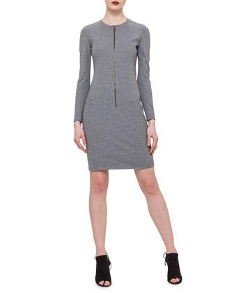 Reversible Wool-Blend Snap Coat & Front-Zip Sheath Dress