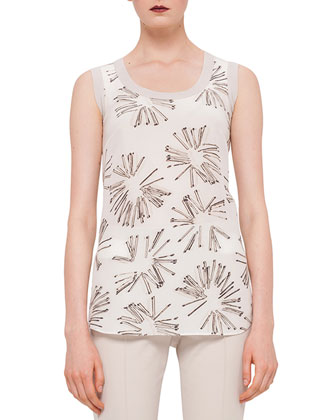 Elements Abstract Floral-Print Top