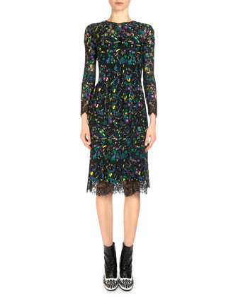 Merike Floral Embroidered Lace Dress