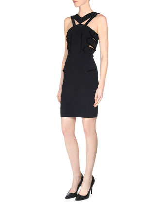 Tabbed Cutout Sheath Dress