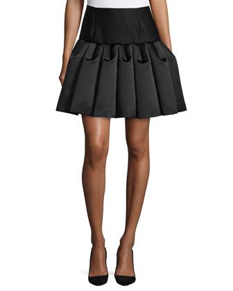 Cap-Sleeve Crop Top & Ruffled A-Line Skirt