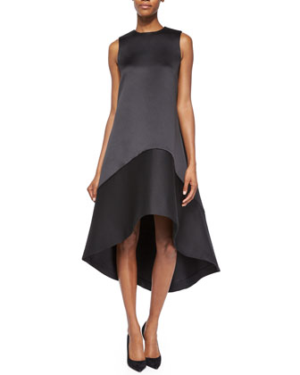 High-Low A-Line Satin Dress