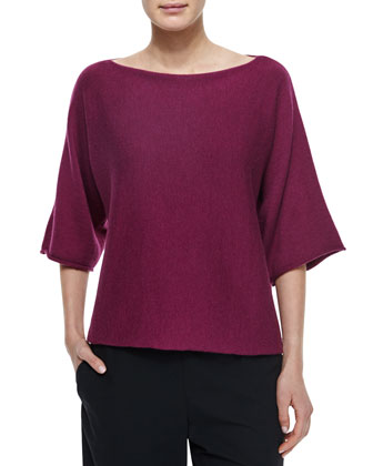 Sideways Knit Square Top
