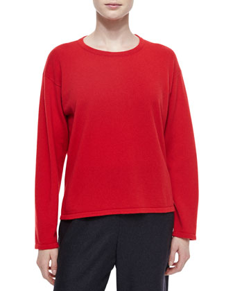 Three-Quarter-Sleeve Paillette Cardigan, Cashmere Round-Neck Sweater, ...