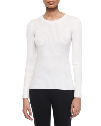 Lightweight Rib-Knit Sweater