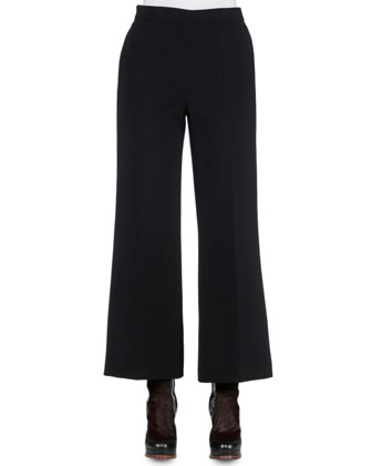 Cropped Boot-Cut Pants