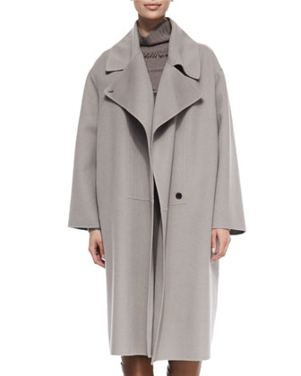Double-Faced Cashmere Cape Coat