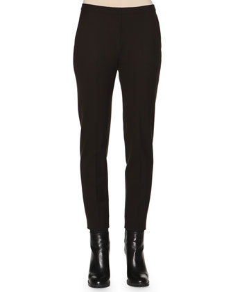 Gabardine Skinny-Fit Ankle Pants