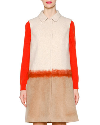 Needlework Colorblock Long Vest