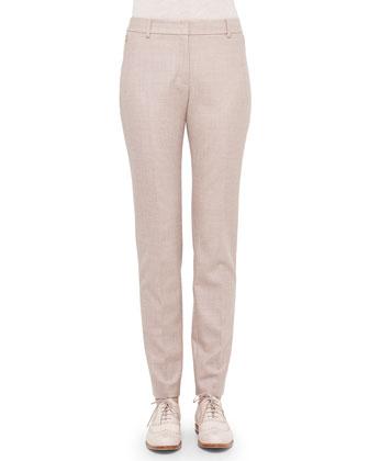Double-Faced Cashmere Reversible Coat, Bicolor Silk-Inset Cashmere Top & ...