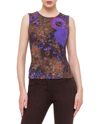 Enchanted Floral-Print Sleeveless Top