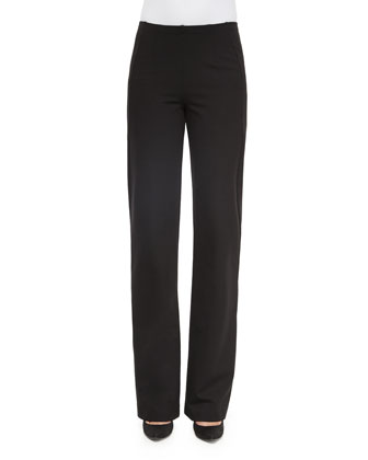 Pull-On Wide-Leg Trouser