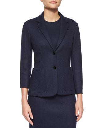Naven Two-Pocket Jacket & Asca Sleeveless Midi Dress